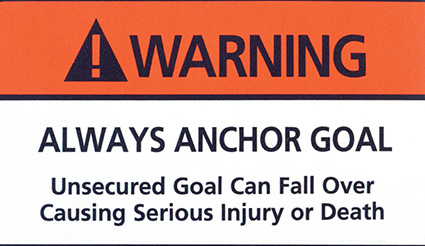 Keeper Goals - Safety Warning