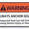 Keeper Goals Warning Label.