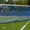 Wheeled Soccer Goal with Blue Net.