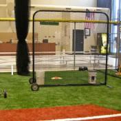 Baseball nets.