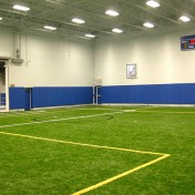 Custom wall padding for indoor sports complex.