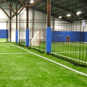 Custom divider net for indoor soccer and lacrosse field.