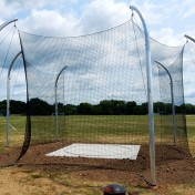 Discus cage for track and field. Oconomowoc High School.