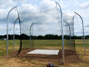 Discus Cage. Aluminum Poles, Black Net.