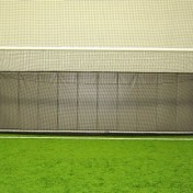 Full goal wall padding at indoor soccer complex.