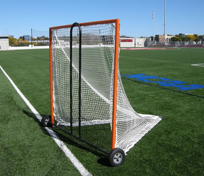 Lacrosse Goal on Cart for Easy Movement of Goals.
