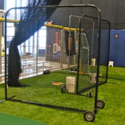 Portable baseball divider.