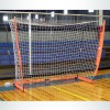 Model #BOWFUTSAL. Portable Bownet Futsal Goal. 3ftx5ft, White Net and Orange Frame.