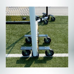 """Model #CMW4. Deluxe Caster Dolly Swivel Wheel Kit to Move Soccer Goals with 4"""" Base."""