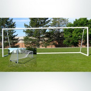 Model #ELITERD4824CABLEPW4. 8' x 24' Elite Soccer Goal with Cable Net Attachment. Wheels are Optional.