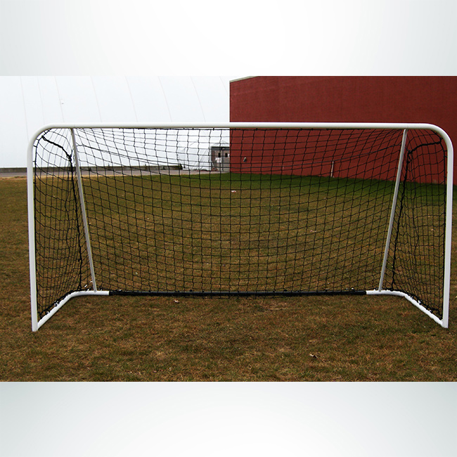Model #FAS. Futsal Steel Goal. White Frame with Black Net.