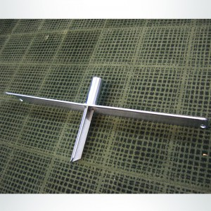 Model #FFITBASE. Aluminum step in base for FFIT soccer goal.