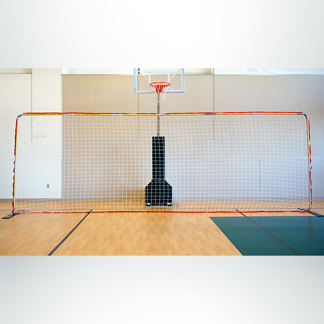 Model #FFITINHD1. FFIT Indoor Flat Soccer Goal. Aluminum Frame with White Net.