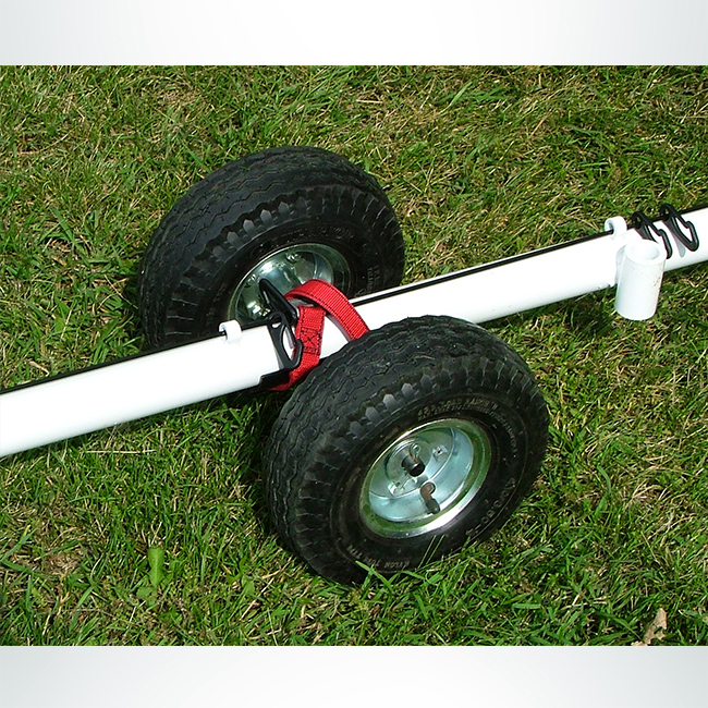 "Model #MWRD. Removable wheel kit for moving soccer goals with 2"" round base."