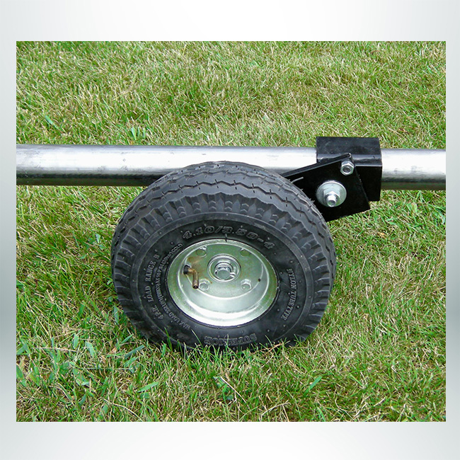 """Model #PW4. Wheel kit to bolt on to soccer goal with 2"""" or 4"""" round base."""
