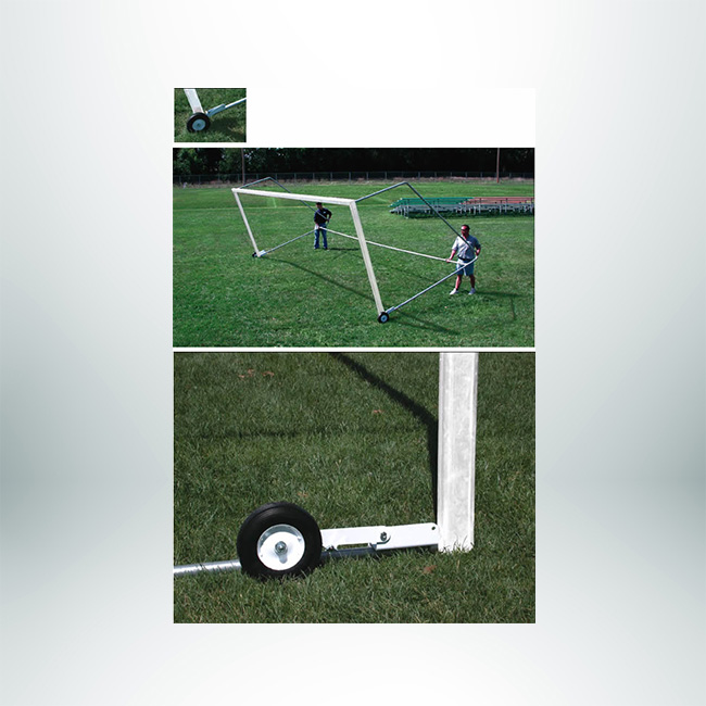 Model #SCNOTIPBS. Bison Wheel Kit to Move Soccer Goals.