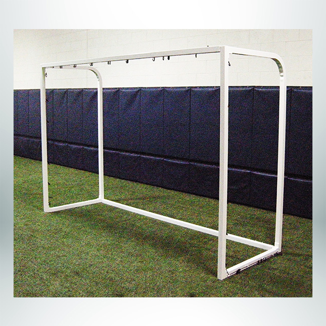 "Model #SGEFUTSALCABPC. Futsal Goal. 2"" Square Aluminum Frame with Cable Net Attachment."
