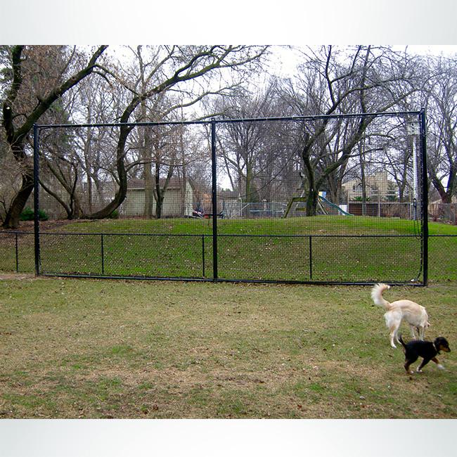 Custom backyard protective netting.