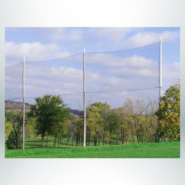 Custom barrier net for golf.