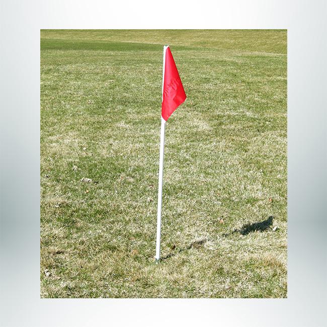 Model #CFO. Official corner flag with steel baes.