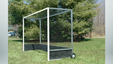 Model #FHG2AL712. Aluminum Field Hockey Goal with Wheels.