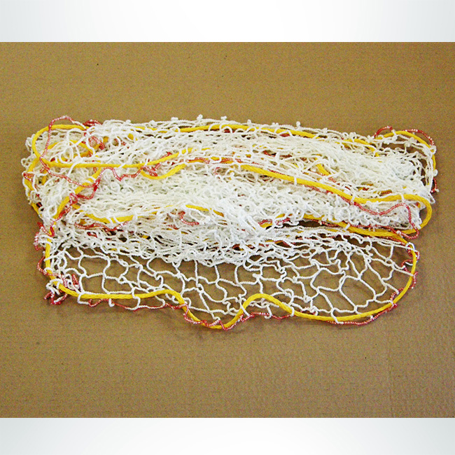 Model #GAIA. Interactive Soccer Goal Net, White and Yellow.