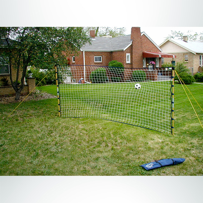Model #GAPN715. PowerNet Soccer Rebounder. Yellow Frame, Black Net, 7' x 15'.