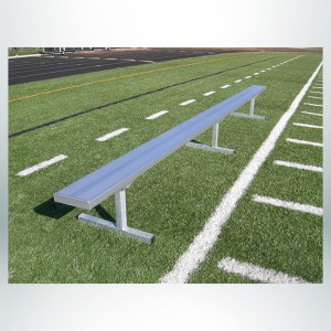 Model #GBSP15JW. 15' Aluminum Free Standing player Bench, No Backrest.