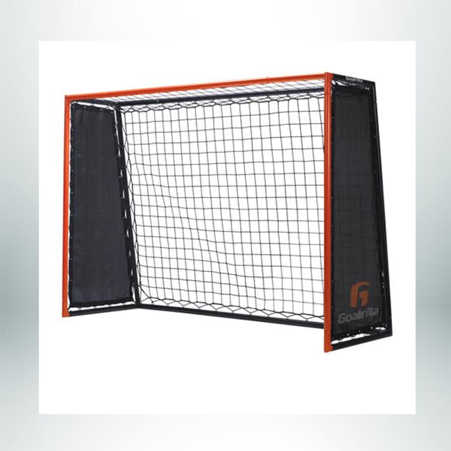 Model #GLR. Goalrilla Strikers Rebound Trainer. Black Net, Red and Black Frame, 5' x 7'.