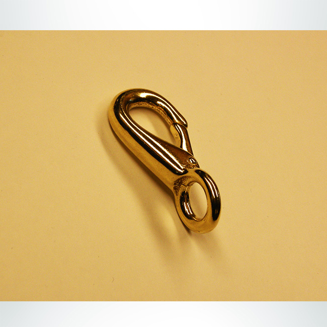 Model #HB4. Brass Snap Hook for Base of Soccer Goal Net Attachment.