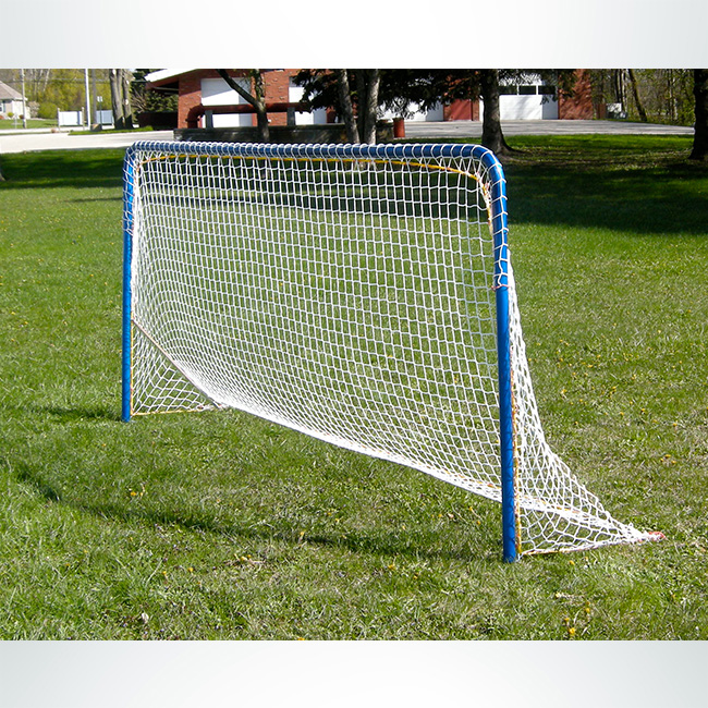 Model #IA. Interactive Goal for Small Sided Soccer Games. Blue Frame with White Net.