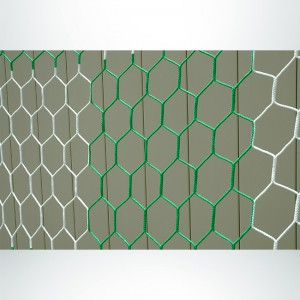 Model #NPHEX4082466HP. Box Style, Checkered Soccer Net, Hexagonal, Green and White.