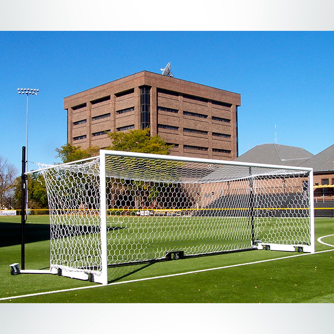 Model #NPHEX4082466HPBOX. Box Style Soccer Net, Hexagonal, Mesh, White, 6ftx24ft.
