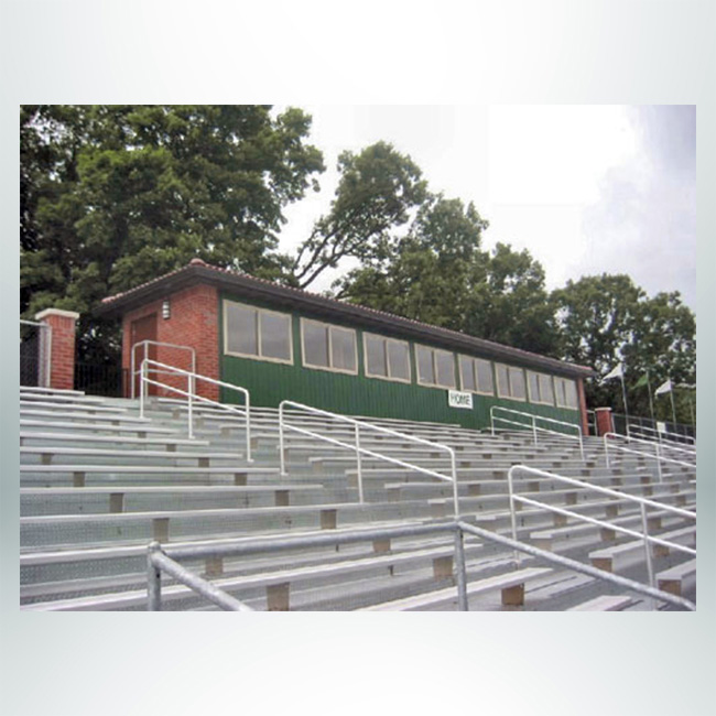 Press Box and Stadium Bleachers.