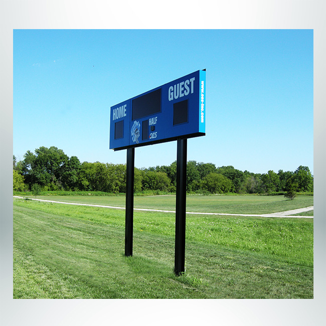 Custom scoreboard base I-beam black.