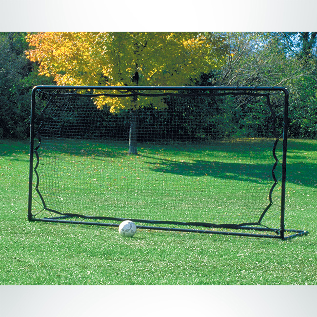 Model #SG2R612. Heavy Duty Soccer Rebounder for Backyard Training. 6' x 12', Black Net with Black Frame.