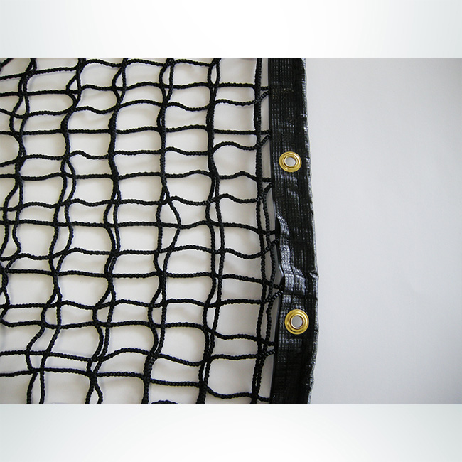"""Model #SGR1. 6' x 12' soccer rebounder net, knotless, nylon mesh, double layer, 178""""."""