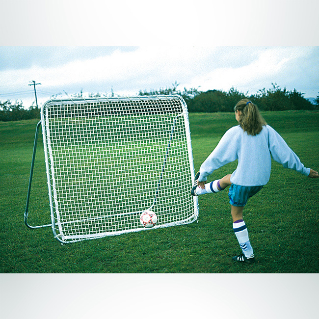 Soccer rebounder, Model #SKR1 Soccer rebounder, white net, 6ftx6ft