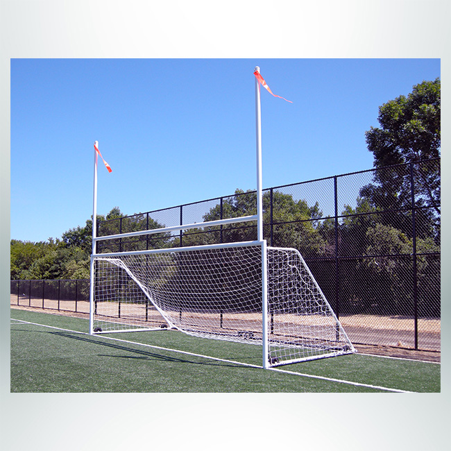 Custom Soccer and Rugby Combination Goal with Wheels.