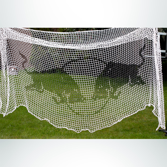 Custom Soccer Net with Red Bull Logo.