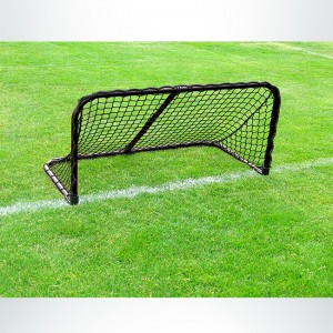 Model #ALUM42. Black Folding Aluminum Soccer Goal Powdered Coated Black with Black Net.