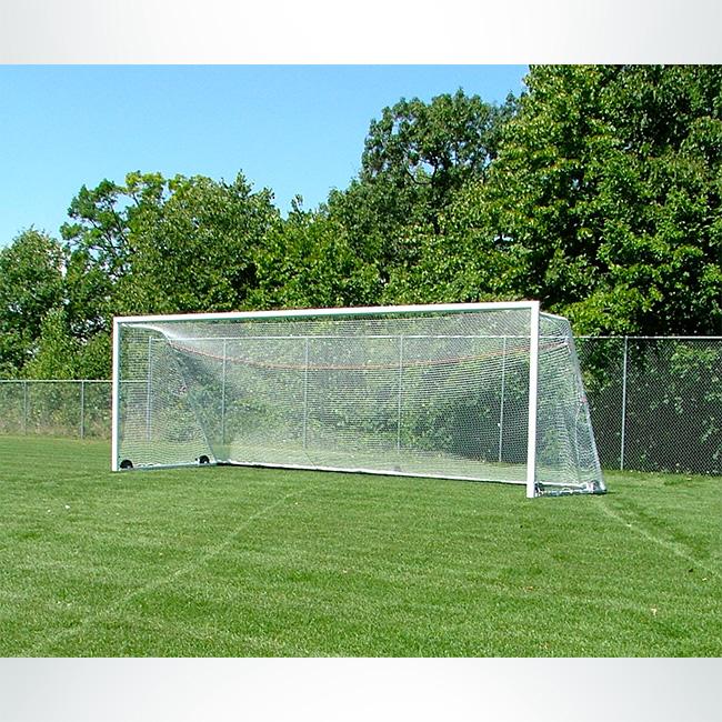 Model #M88WRD4824. 8' x 24' wheeled soccer goal.