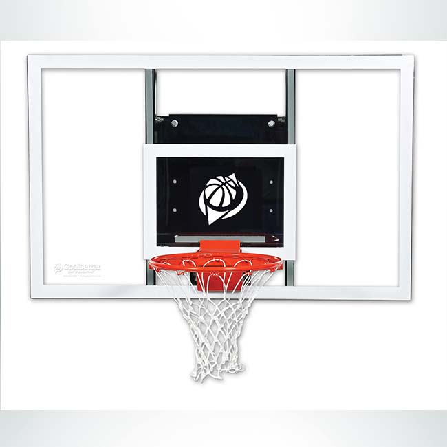 Model #GSBASELINE. Goalsetter Baseline Series Stationary Wall Mount Basketball Hoop.