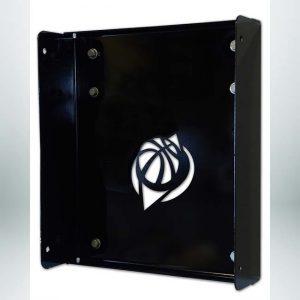 Model #GSBASELINE. Wall mount plate for Goalsetter Baseline series stationary wall mount basketball hoop.