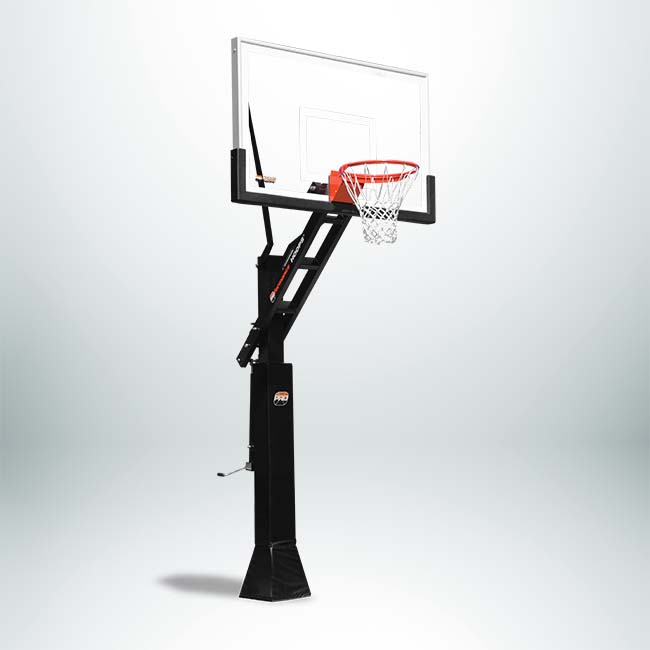 "Model #PROVIEW67236. Proview Proformance adjustable basketball hoop with 72"" backboard."
