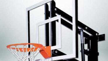 "Model #GS48Wall. Goalsetter Wall Mount Basketball Hoop for Indoor or Outdoor with 48"" Backboard."