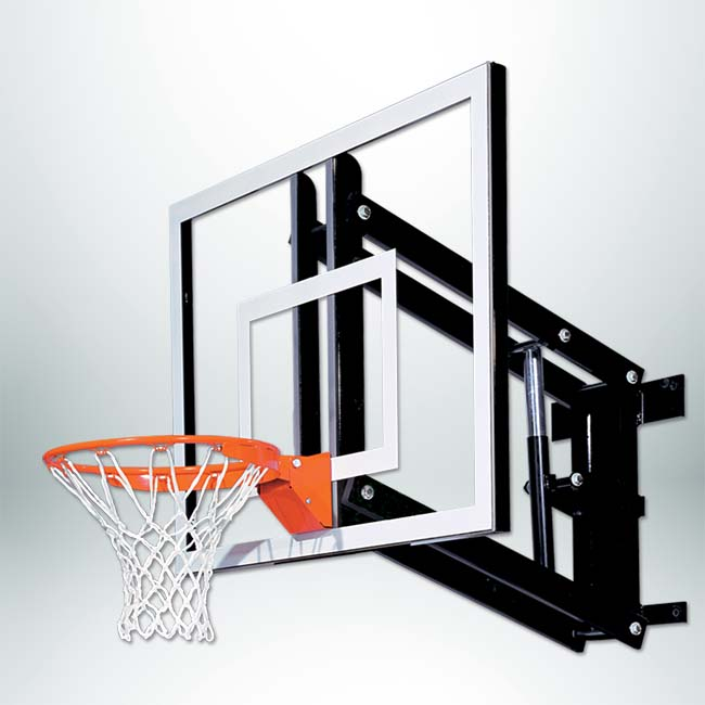 "Model #GS48Wall. Goalsetter wall mount basketball hoop for indoor or outdoor with 48"" backboard."