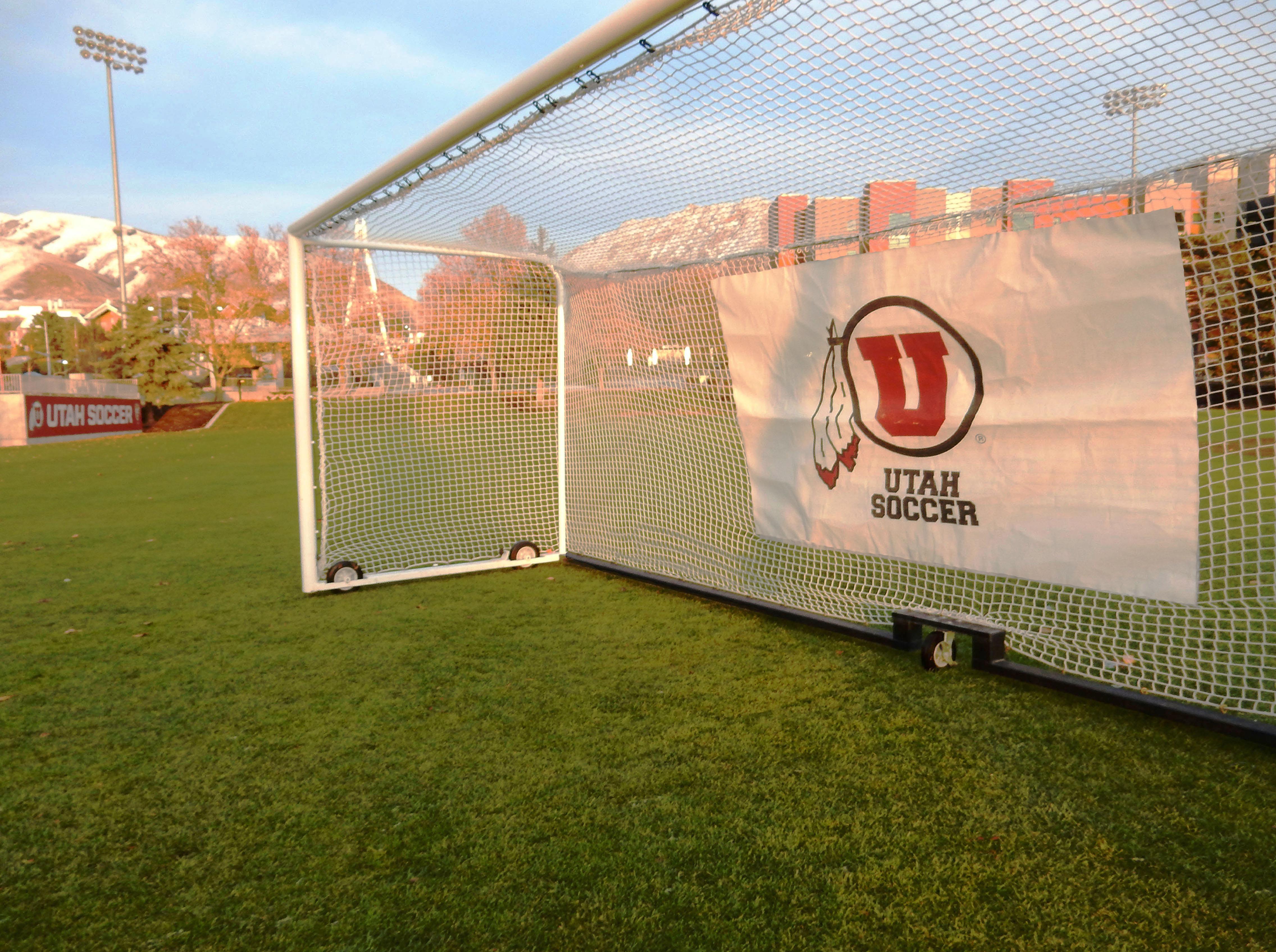 Utah Soccer personalized team logo net.