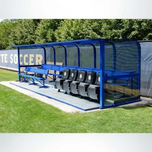 Deluxe Heavy Duty Team Shelter with Double Bench and Custom Logo Seats.