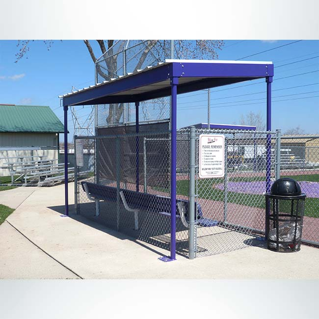 Model #DG10. Softball and Baseball Dugout.
